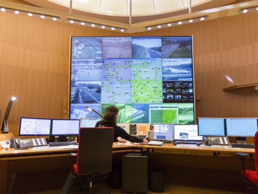 Poste de commandement central de Saint-Apollinaire  Crédit photographique: APRR/Leimdorfer Gilles