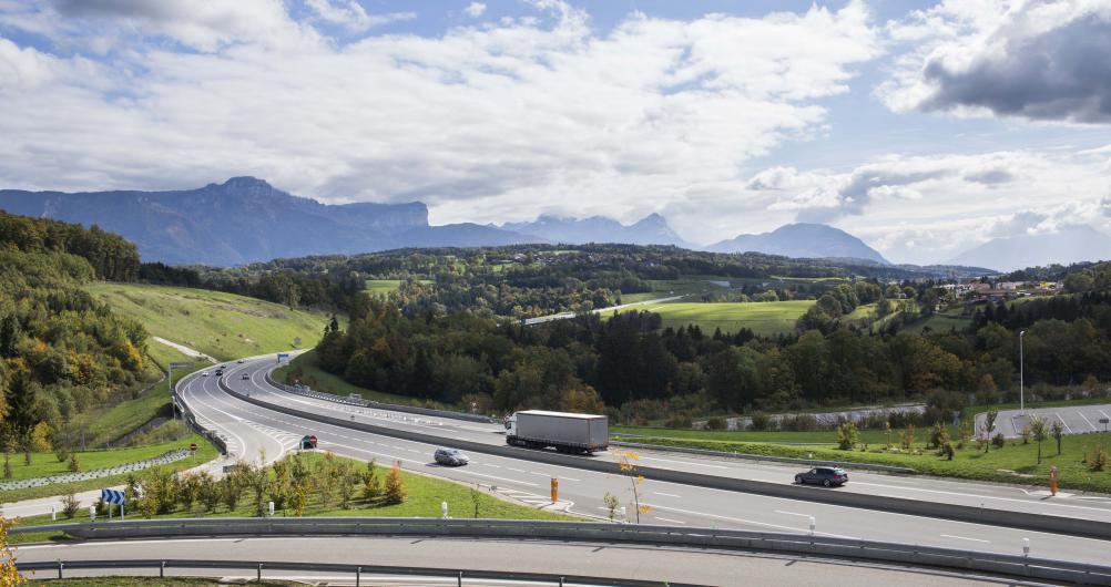 Autoroute Liane ou A41 Nord    Crédit photographique: APRR/Leimdorfer Gilles