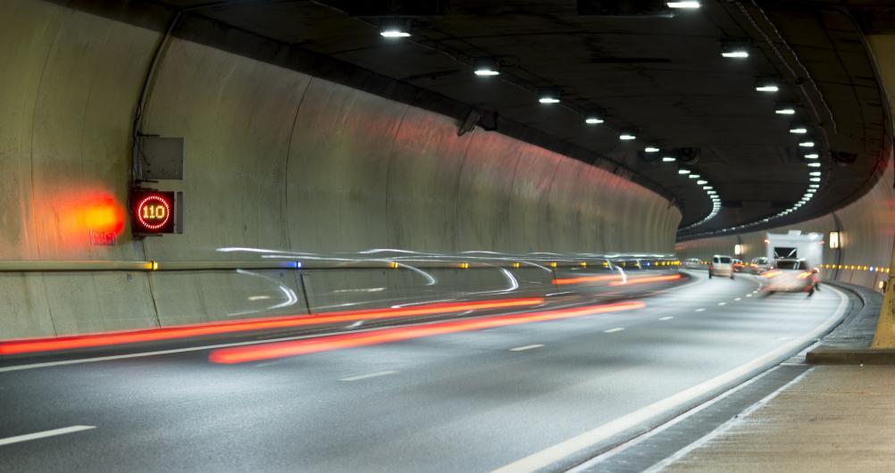 Tunnel de Saint-Germain, long de 1300 mètres situé sur l'A40  Crédit photographique:  APRR/ROBIN Nicolas